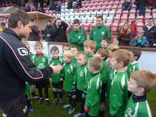 Warriors U8s at Exeter City
